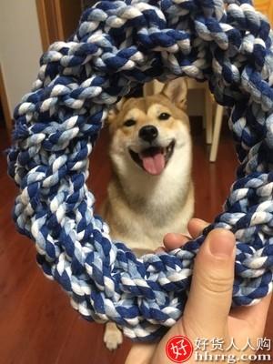 interlace,1# - 狗狗玩具咬绳耐咬萨摩耶,大型犬拔河磨牙绳结
