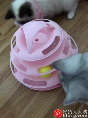 interlace,1# - 猫玩具自嗨逗猫棒猫转盘球,猫咪玩具套装