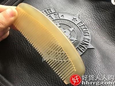 interlace,1# - 天然正品黄牛角梳,檀木檀香木梳牦牛角梳