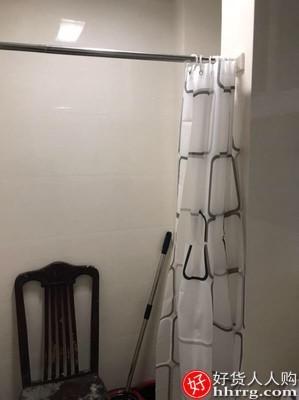 interlace,1# - 浴帘套装免打孔防水防霉,卫生间窗帘挂帘布