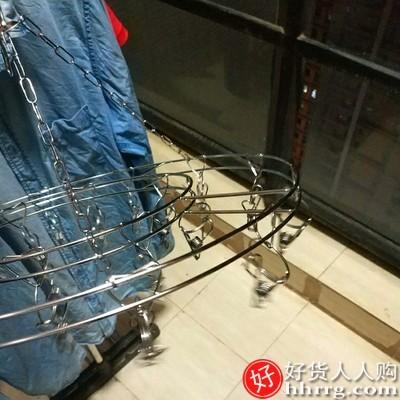 interlace,1# - 不锈钢衣架多夹子,多功能家用圆形凉晾挂钩