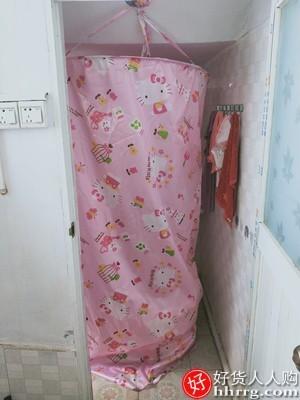 interlace,1# - 圆形洗澡浴罩浴帘浴帐,加厚保温保暖免安装家用浴照