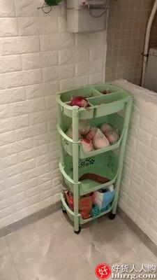 厨房塑料置物架,落地多层蔬菜架子