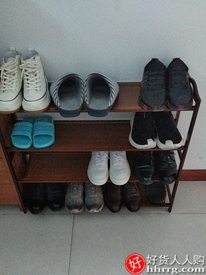 interlace,1# - 鞋架家用室内好看鞋柜,经济型多层实木简易放鞋架子