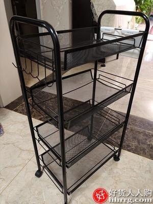 interlace,1# - 心家宜厨房落地置物架,可移动带轮多层蔬菜收纳架