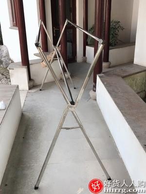 阳台落地折叠晾衣架,室内不锈钢伸缩晾衣杆
