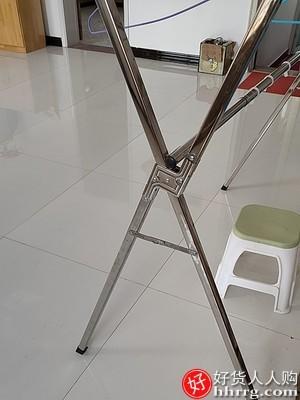 interlace,1# - 阳台落地折叠晾衣架,室内不锈钢伸缩晾衣杆