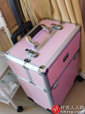 interlace,1# - NiceLand拉杆手提化妆箱,多层大容量可拆卸万向轮工具箱
