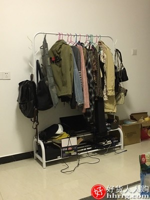 interlace,1# - 折叠晾衣架落地挂衣架,家用凉衣服杆架子