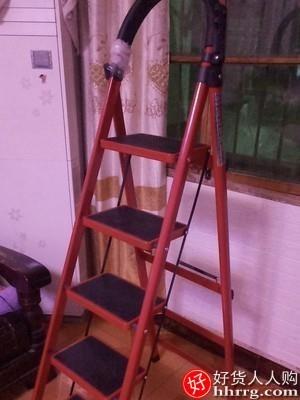 interlace,1# - 不锈钢梯子家用折叠梯,室内人字梯移动楼梯伸缩梯