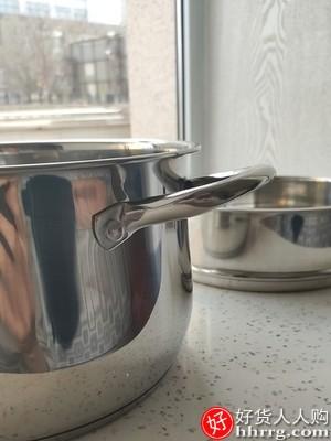 华际达汤锅,304不锈钢加厚小煮锅