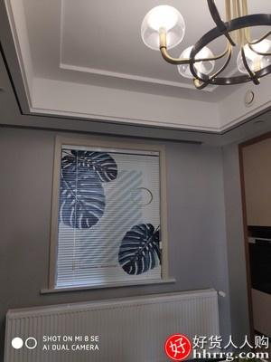 德国慕安娜ins风印花铝百叶窗帘,家用遮光防水免打孔