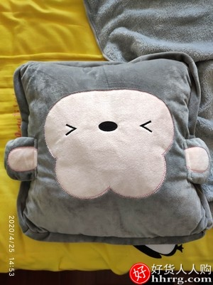 抱枕被子两用,靠背垫靠枕三合一空调午休枕头
