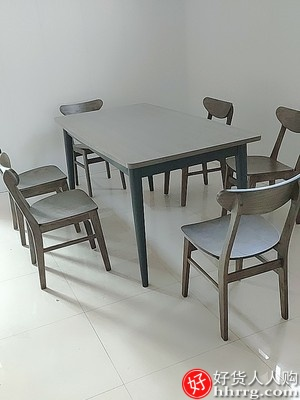 1589075959 O1CN01Ouo7k42HyLvgTTDl1 0 rate.jpg 400x400 - 北欧餐桌椅组合,实木一桌四椅六椅长方形饭桌