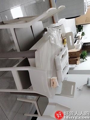 林氏木业可伸缩餐桌椅组合,小户型折叠饭桌家用圆桌