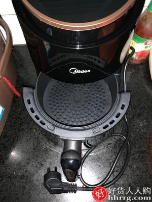 美的空气炸锅,大容量全自动无油气炸锅智能电炸锅
