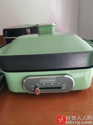 摩飞多功能锅烧烤炉,家用一体电烤锅魔飞