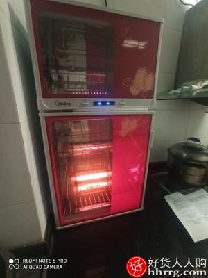 美的80K03/100K03立式消毒柜,高温家用厨房碗柜碗筷烘干沥水