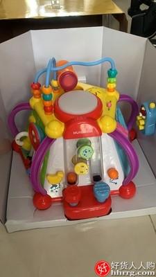 汇乐玩具快乐小天地宝宝玩具桌,多功能六面体益智儿童游戏桌