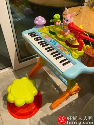 汇乐玩具669多功能宝宝电子琴,3-6周岁益智玩具琴儿童电子钢琴