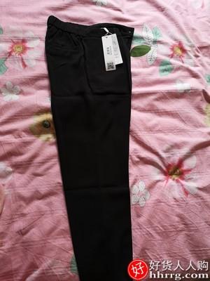 九分夏季黑色西裤,高腰显瘦薄款直筒烟管裤