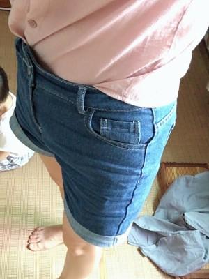 牛仔短裤女,高腰显瘦阔腿薄款宽松破洞