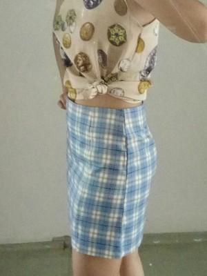 防走光少女感半身裙,ins高腰包臀裙a字格子短裙