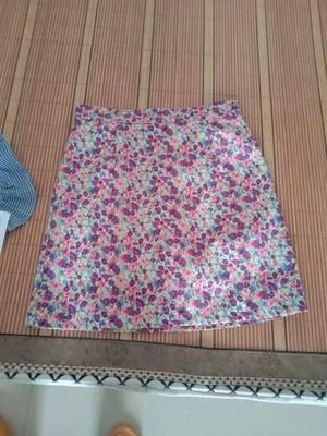 碎花半身裙,紫色雪纺短裙a字裙