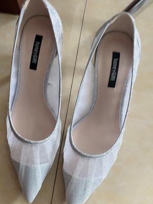 honeyGIRL网纱小仙女高跟鞋,细跟尖头单鞋