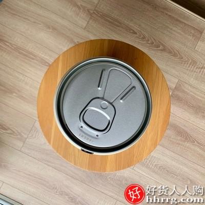 嘉佰特创意智能感应垃圾桶,带盖不锈钢自动家用可乐罐