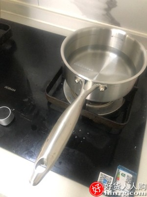dumik炖奶锅汤锅,316加厚加深不锈钢不粘小锅