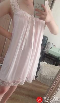 RoseTree公主睡裙,甜美性感蕾丝吊带短袖家居服