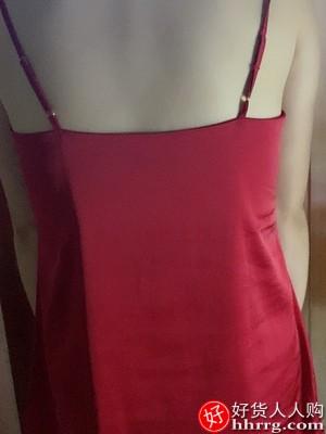 夏季冰丝女睡裙,薄款丝绸吊带睡衣家居服