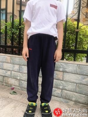 小猪班纳防蚊裤男童裤,薄款儿童运动裤灯笼长裤