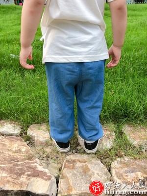 齐齐熊男童女童防蚊裤,宝宝牛仔裤