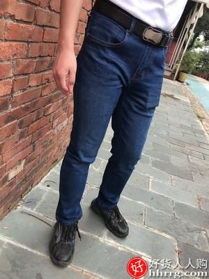 花花公子直筒牛仔裤男,高帮8孔男士马丁靴
