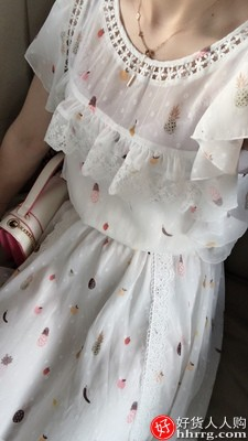 阿卡雪纺连衣裙,骆驼女鞋秋季小皮鞋