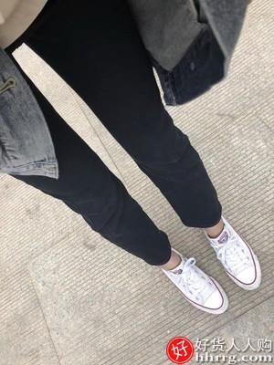 高腰黑色直筒牛仔裤女,LUKECSION裸色高跟鞋女
