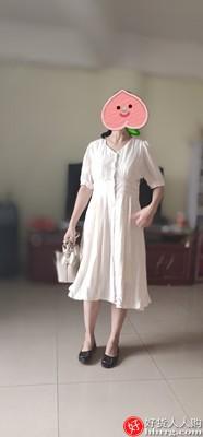法式桔梗收腰显瘦连衣裙,小个子气质雪纺长裙