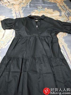 黑色轻熟风连衣裙,赫本小个子显瘦裙子