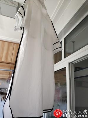 白色长款衬衫连衣裙,小个子气质简约白色polo裙
