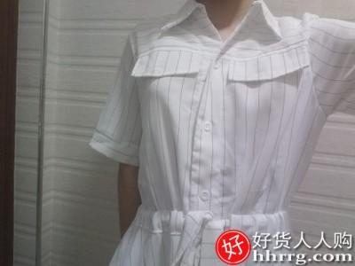 设计感小众连衣裙,收腰显瘦气质衬衫裙
