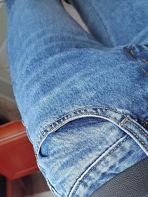 阔腿牛仔裤女,垂感拖地裤超高腰小阔腿裤