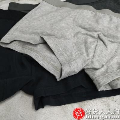 花花公子男士内裤四角短裤,纯棉抗菌透气平角裤