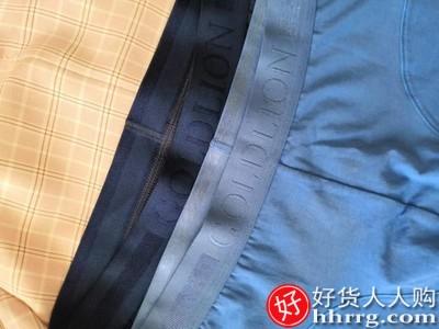 金利来男士内裤,纯棉夏季透气抗菌平角四角裤