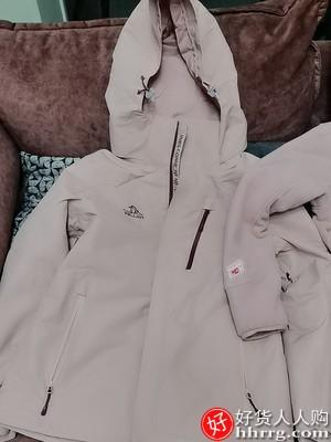 伯希和三合一可拆卸冲锋衣,加绒加厚防风外套