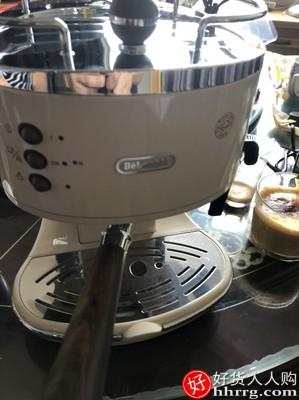 德龙 ECO310半自动咖啡机,复古意式泵压小型家用