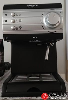 Donlim/东菱 DL-KF6001咖啡机,家用小型意式半全自动蒸汽式