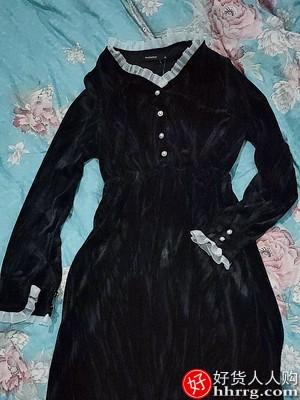 1610499983 O1CN01DC6qct1NFozCHR9dH 0 rate.jpg 400x400 c14fe496 - 法式黑色赫本风丝绒连衣裙,打底小个子内搭裙子