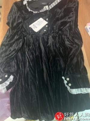 1610500003 O1CN013tHR5s1eWAb2mLOPv 0 rate.jpg 400x400 6f232d2b - 法式黑色赫本风丝绒连衣裙,打底小个子内搭裙子